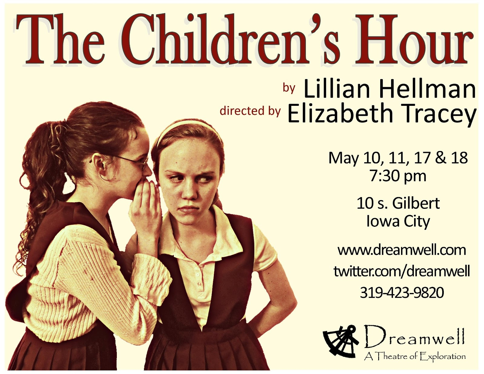 "the children s hour by lillian hellman ""between the dark and the daylightcomes a pause known as the children's hour"" lillian hellman's powerful debut drama from 1934 was a pulitzer prize finalist and is based on startling actual events."
